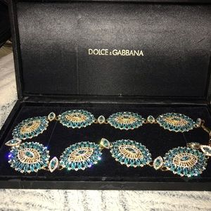 Dolce and Gabbana Crystal chain belt